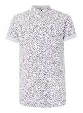 MENS WHITE FLORAL PRINT S/SLEEVE SHIRT FROM TOPMAN IN SIZES LARGE-XXLARGE BNWT