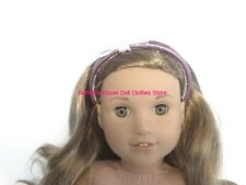 Purple Bow Headband 18 in Doll Clothes Hair Accessory Fits American Girl #P