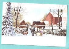 Irish Setter Horse Snowman Sled Snow Sled Embossed Christmas Cards Box of 16