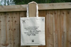 Organic BRANDED ECOBAG Recycled Cotton Canvas Tote/Shopping Bag,  long Handles