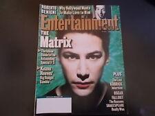 The Matrix, Keanu Reeves, Stanley Kubrick - Entertainment Weekly Magazine 1999