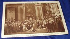 KM208 Vtg Old PostCard Coronation of Napoleon