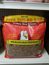 New listing Happy Hen Treats 17006 100% Natural 5 Lb Mealworm Frenzy Chicken Treats