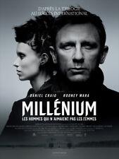 Affiche Pliée 120x160cm MILLÉNIUM : LES HOMMES QUI…(2012) Daniel Craig NEUVE