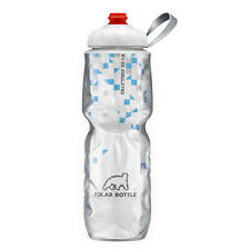 Polar Bottle 24oz Insulated Travel Water Bottle - Ass Designs BPA Breakaway Blue 0051