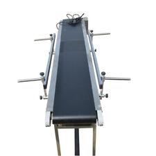 """Best Sale&Best Price:59""""*7.8""""(1.5m*0.2m) PVC Belt Conveyor System 2 Guardrails"""