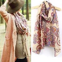 Women Fashion Long Soft Chiffon Scarf Wrap Large Silk Winter Shawl Stole Scarves