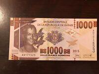 2015 Guinea 1000 Francs Banknote; Crisp, Uncirculated