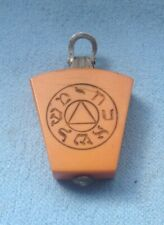 MASONIC LOVELY ANTIQUE DOUBLE SIDED SILVER MOUNTED KEYSTONE WATCH FOB..