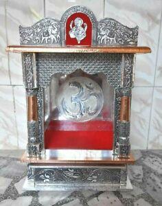 New Wooden Home Office Open Temple Hindu Mandir Mandap Pooja Worship Wall Art