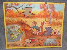 1964 Jaymar Inlay Inlaid Jig Saw Puzzle Walt Disneys Winnie The Pooh Rabbit Hole