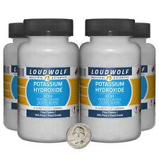 Potassium Hydroxide 2 Pounds 4 Bottles 99 Pure Food Grade Fine Flakes