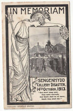 More details for in memiriam sengenhydd coliery disaster 14 october 1913- given with sunday hours