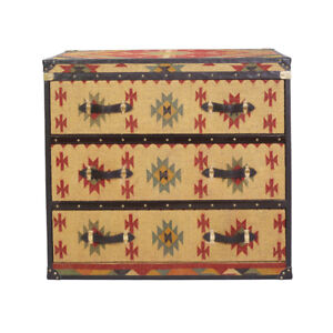 Customized Brown Kilim Drawer Chest Console Cabinet Home Decor