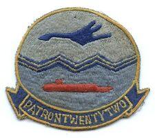 Vietnam War Era USN Patrol Squadron (VP) 22 Jacket Patch Made in Philippines
