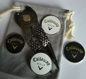 Crosshair Divot tool (black) with Callaway marker sets - Free pouch
