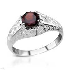Garnet (1.1ctw) Sterling silver (.925) Ring Size 7 - January Birthstone