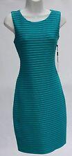 Calvin Klein stretch sleeveless dress teal blue office or cocktail versatile 6