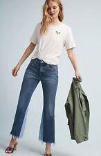 Anthropologie Pilcro Two Tone Frayed Trim Frayed Trim Crop Leg Denim Jeans 31 P