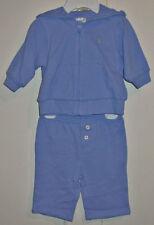 Ralph Lauren Infant Unisex Blue Sweat Suit Size 3 Months New With Tags