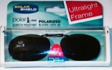 Solar Shield Polarized 52 rec2 Clip On Ultrlight Frame Sunglasses