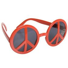 Red Hippie Glasses sunglasses photo booth novelty costume accessory 70's peace