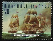 USS SOUTH CAROLINA (Indien) Captured by HMS QUEBEC & ASTREA Warship Stamp (1997)