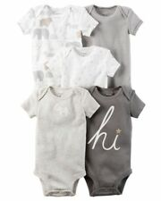 Carter'S Baby Body Suits 5 Pack Newborn Brand New With Tags 126G699