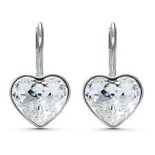 Swarovski 5515191 Bella Heart Earrings, White, Rhodium Plated 2x1CM RRP $89