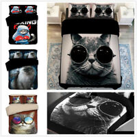 3D Sunglasses Cat Duvet Cover Bedding Set Quilt Cover Comforter Cover Pillowcase