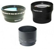 Wide Lens + Tele Lens + Tube Adapter bundle for Nikon Coolpix P510 Camera
