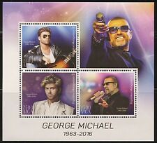 Congo 7544-2018 George Michael Perf Sheet Of 4 Values Unmounted Topical Stamps