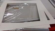 10 Stück Passepartout 50x60cm ALTWEISS (Kern WEISS) mit 39,6 x 49,6cm Ausschnitt