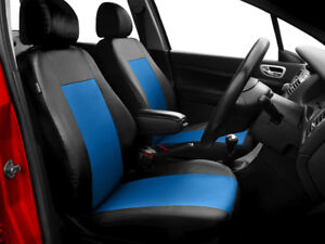 Car seat covers comfort fit Volkswagen Caddy leatherette black - blue