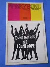 March 1973 - Edison Theatre Playbill - Don't Bother Me, I Can't Cope - H. Clarke