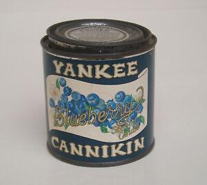 Vintage Yankee Candle Cannikin~Scented Blueberry Candle~UNLIT~Wonderful Aroma!