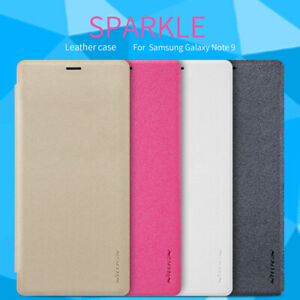 For Samsung Galaxy Note 9 Case Nillkin Sparkle Slim PU Leather Flip Cover