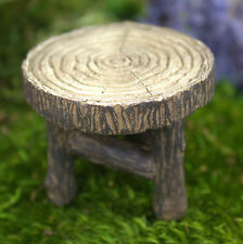 Fairy Garden  Wood Table 1.75″ Tall | 2″ Diameter (Accessory)