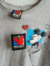 Gee MICKEY Love Hearts Minnie MOUSE Jerry Leigh 90s T Shirt Disney Gray XL vtg