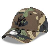 New York Yankees New Era MLB Black Tonal 9FORTY Snapback Curve Hat - Camo