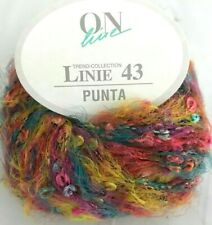 On line Linie 43 Punta #24 Teal Pink Purple Yellow 50g Yarn Skein Boucle Fuzzy