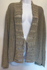 Sandwich XL UK14 EU42 US10 green ribbon knit tie-front long-sleeved cardigan
