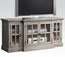 NEW LANGDON SAND WASH GRAY FINISH WOOD ENTERTAINMENT TV STAND CENTER CONSOLE
