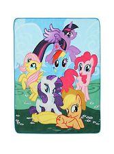 """My Little Pony Mane Six Throw Plush 48"""" x 60"""" Rainbow Dash, Pinkie Pie - NWT"""