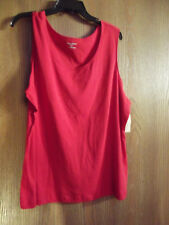 womens tank top size 2x by studio works..red