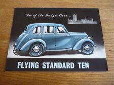 STANDARD FLYING TEN BROCHURE, 1939