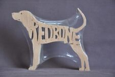 Redbone CoonHound Hound Dog Wood Toy Scroll Saw Puzzle