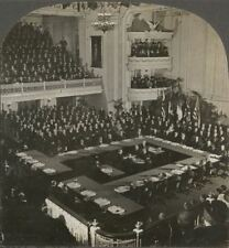 World Disarmament Conference Delegates in Session, Washington, DC WW1 Stereoview