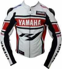 Yamaha R1 Motorbike Leather Jacket In Cow hide / 5 Protections Armour inside