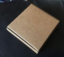 10 x imballaggio Kraft, visualizzazione, scatole regalo, imballato piatto Kraft l'assemblaggio scatole